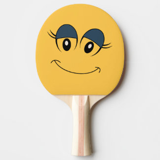 Girl Smiley Face Ping Pong Paddle