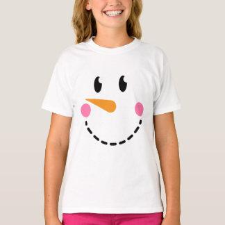 Girl Snowman T-shirt (Design 4)