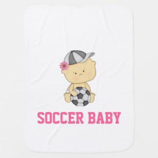 Girl Soccer Baby Blanket - Pink