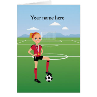 Girl Soccer Player / Soccer Match  Invitation