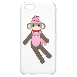 girl sock monkey iPhone 5C case