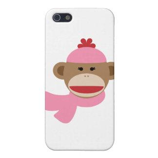 girl sock monkey iPhone 5 cover