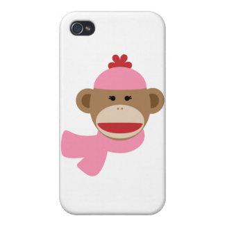girl sock monkey iPhone 4 case