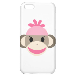 girl sock monkey cover for iPhone 5C
