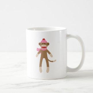 girl sock monkey coffee mugs