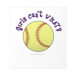 Girl Softball-Purple Text Notepad