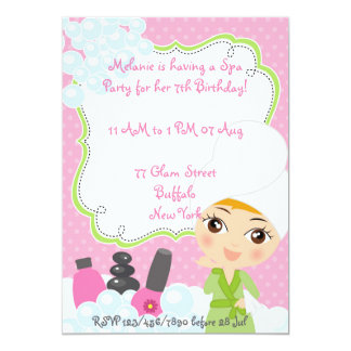 Girl Spa Birthday Party invitation