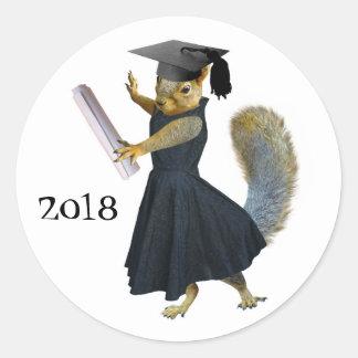 Girl Squirrel Grad 2018 Sticker