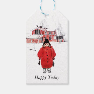 Girl Standing in the Snow Gift Tags
