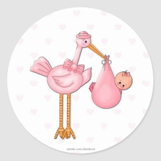 Girl Stork Sticker