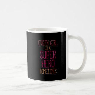 Girl Super Heron Quote Basic White Mug