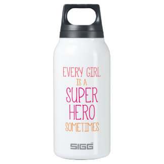 Girl Super Heron Quote SIGG Thermo 0.3L Insulated Bottle