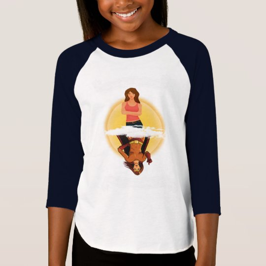"Girl/Superhero ""How You See Me"" Kids Raglan Tee"