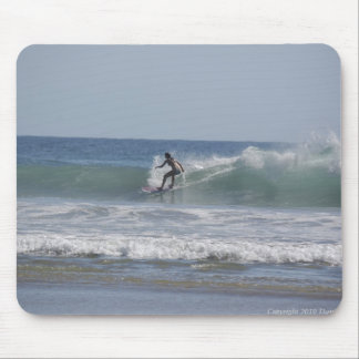 Girl Surf Mouse Pad