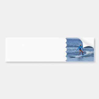 Girl Surfer Bumper Sticker