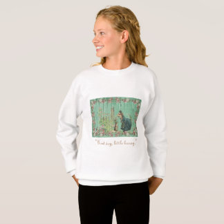 Girl Sweatshirt  vintage bunny and a girl