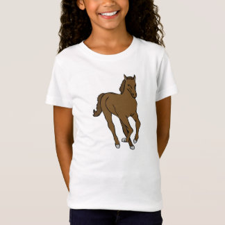 Girl T-shirt knows with motive for horse