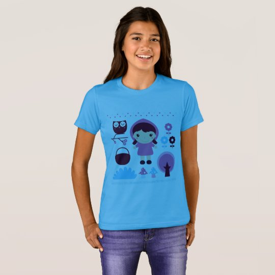 Girl t-shirt with Wood manga girl