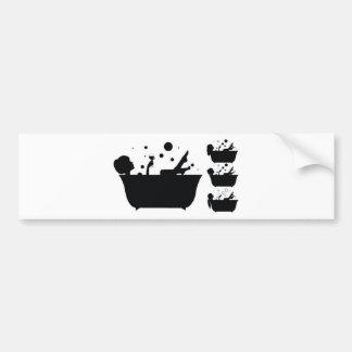 Girl taking bath design bumper sticker