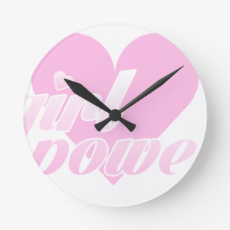 girl to power round clock