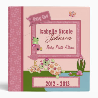Girl TURTLE Once Upon a Pond 1.5in Baby Album #2 3 Ring Binders