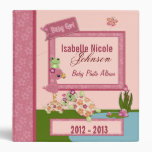 Girl TURTLE Once Upon a Pond 1.5in Baby Album #2 3 Ring Binder