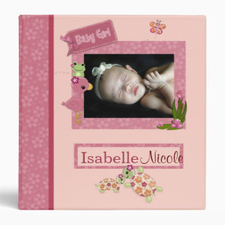 Girl TURTLE Once Upon a Pond 1.5in Baby Album Vinyl Binders