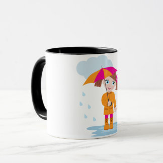 Girl Under An Umbrella Mug