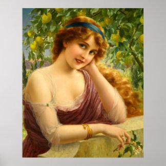 Girl Under the Lemon Tree Poster