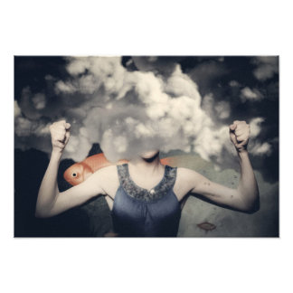 Girl underwater photographic print
