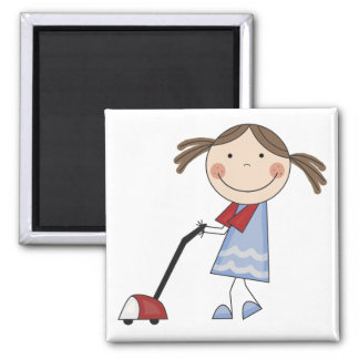 Girl Vacuuming Tshirts and Gifts Magnet