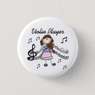 Girl Violin Player Button