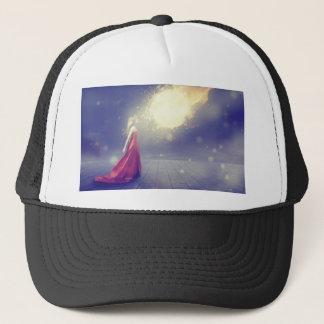 Girl vs. a Meteor Trucker Hat