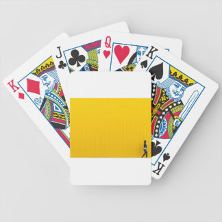 Girl Walking Against Enormous Yellow Wall Bicycle Playing Cards