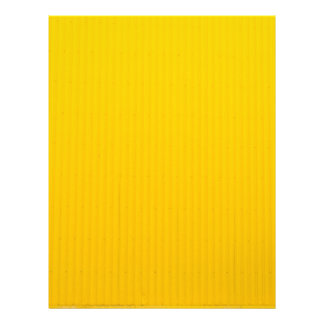Girl Walking Against Enormous Yellow Wall Letterhead