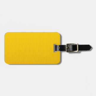 Girl Walking Against Enormous Yellow Wall Luggage Tag