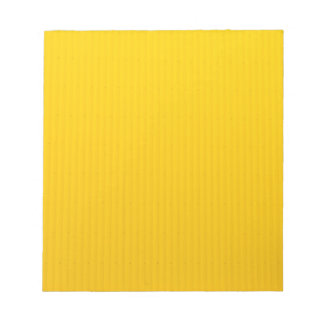 Girl Walking Against Enormous Yellow Wall Notepad