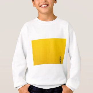 Girl Walking Against Enormous Yellow Wall Sweatshirt