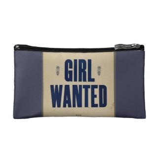 Girl Wanted Retro Make-up Bag - Navy Cosmetics Bags