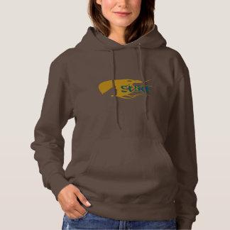 Girl Watching Waves Artwork Basic Hood Sweatshirt