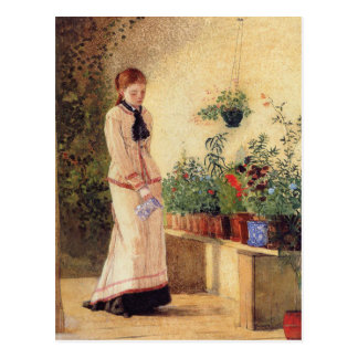Girl Watering Plants by Winslow Homer Postcard