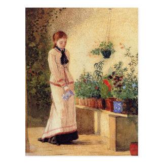 Girl Watering Plants by Winslow Homer Postcard