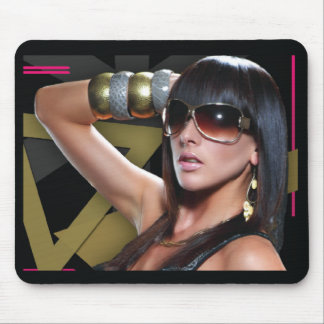 Girl Wearing Sunglasses Mousepad