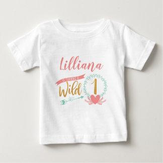 Girl Wild One Boho Tribal First Birthday Shirt