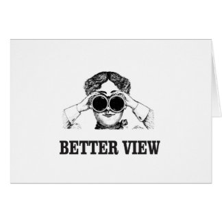 girl with a better view card