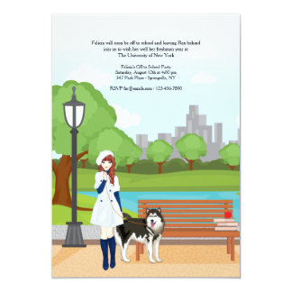 Girl With A Dog Invitation
