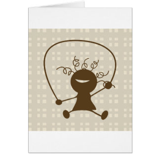 Girl With A Jump Rope Greeting Cards