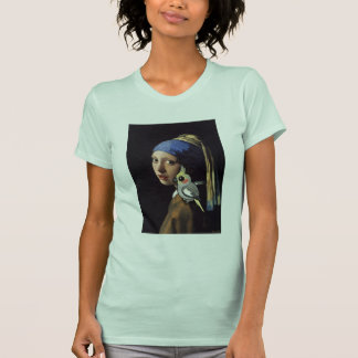 Girl with a Pearl Cockatiel T-Shirt