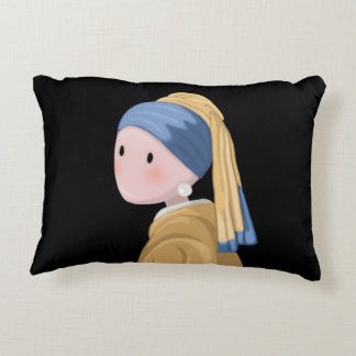 Girl with a Pearl Earring Accent Pillow