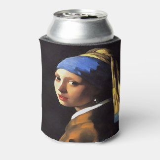 Girl with a Pearl Earring After Johannes Vermeer Can Cooler
